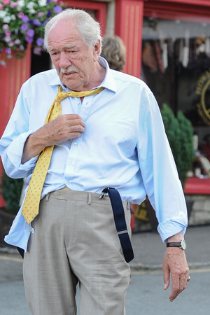Actors seen of set for the filming of JK Rowling's 'The Casual Vacancy' - Part 3 Michael Gambon