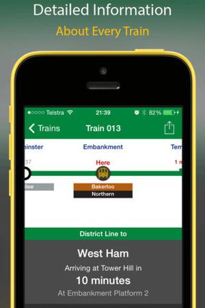 London Tube Tracker app for iOS