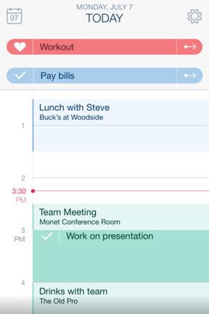 Timeful app for iOS