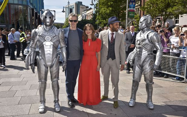Peter Capaldi, Jenna Coleman & Samuel Anderson at the launch of the Doctor Who World Tour