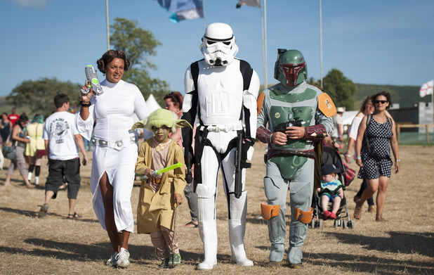 Festival goes in Star Wars fancy dress at Camp Bestival
