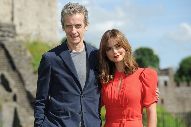 Peter Capaldi & Jenna Coleman at the launch of the Doctor Who World Tour