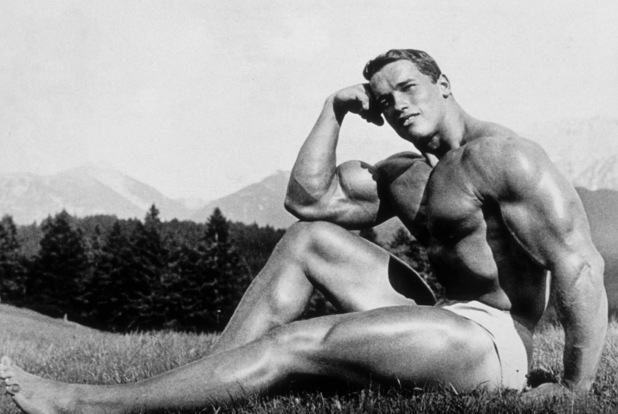 AUSTRIA - CIRCA 1966: Young bodybuilder Arnold Schwarzenegger poses for a portrait circa 1966 in Austria. (Photo by Michael Ochs Archives/Getty Images)