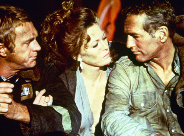 Steve, McQueen, Faye Dunaway, Paul Newman in The Towering Inferno