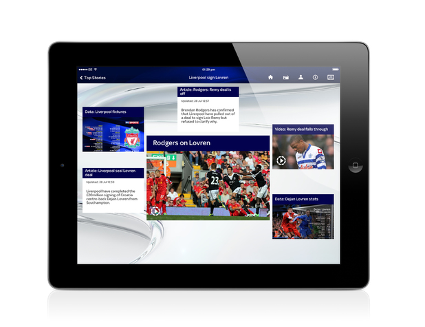 New Sky Sports app for iPad