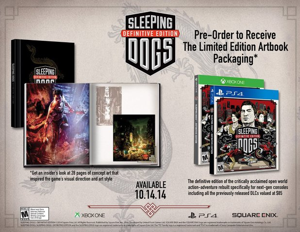 Sleeping Dogs: Definitive Edition - limited edition