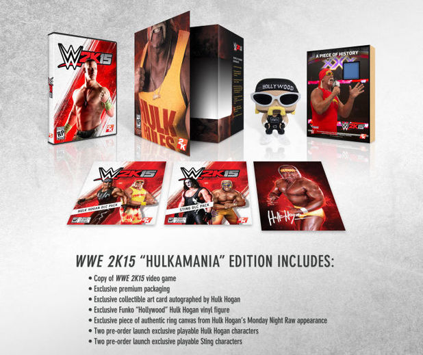 WWE 2K15 Collector's Edition 'HULKAMANIA' contents