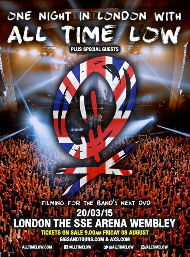 All Time Low London gig poster