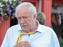 See Michael Gambon and Keeley Forsyth on set of Harry Potter author's TV adaptation.