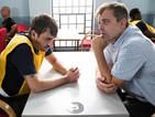 POTD: Coronation Street's Steve McDonald visits Peter Barlow in prison