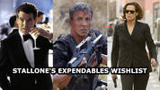Sylvester Stallone and Kellan Lutz talk being competitive on the set of The Expendables 3, having Sigourney Weaver or Susan Sarandon lead The Expendabelles and getting a Bond star in the franchise.