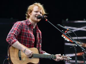 Ed Sheeran performs on stage at V festival 2014