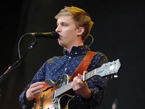 George Ezra performs on stage at V festival 2014