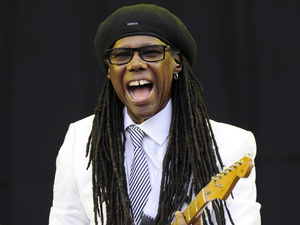 Nile Rodgers of Chic performs on stage at V festival 2014