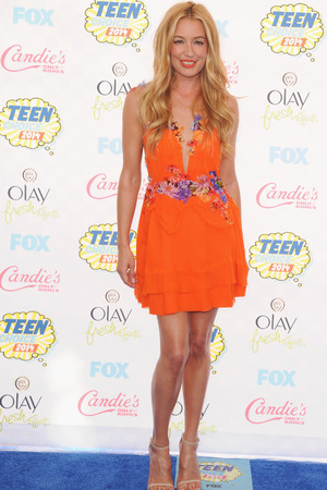 LOS ANGELES, CA - AUGUST 10: Cat Deeley arrives at the 2014 Teen Choice Awards at The Shrine Auditorium on August 10, 2014 in Los Angeles, California. (Photo by Jon Kopaloff/FilmMagic)