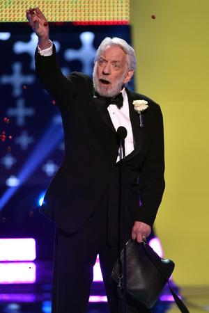 Donald Sutherland at the Teen Choice Awards 2014