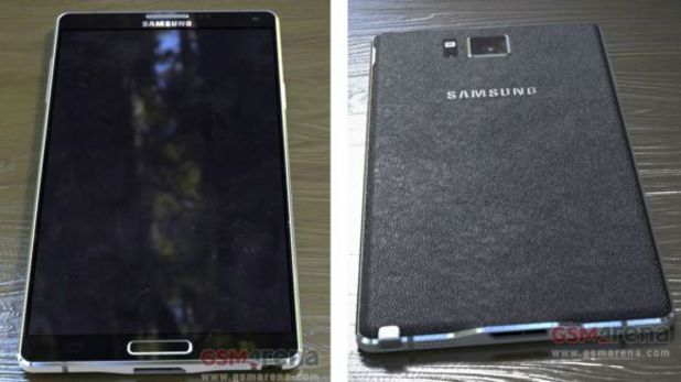 Leaked photo of the Samsung Galaxy Note 4