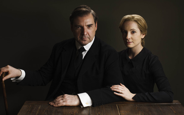 Brendan Coyle as John Bates & Joanna Froggatt as Anna Bates in Downton Abbey series 5 launch picture