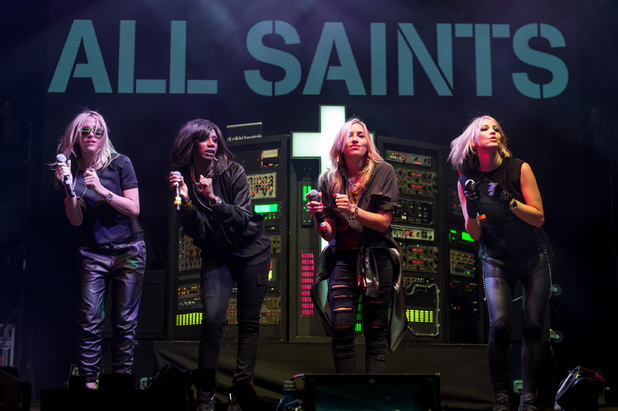 Nicole Appleton, Shaznay Lewis, Natalie Appleton and Melanie Blatt of All Saints perform on Day 1 of V festival 2014