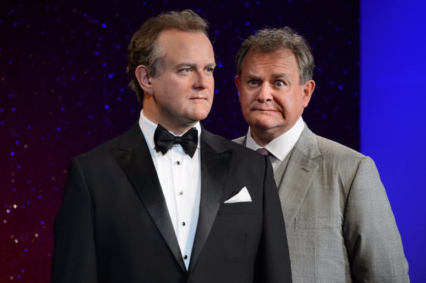 Hugh Bonneville unveils his wax figure at Madame Tussauds, London
