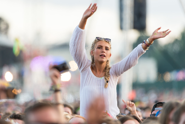 The crowd enjoys the atmosphere during Day 1 of the V Festival 2014