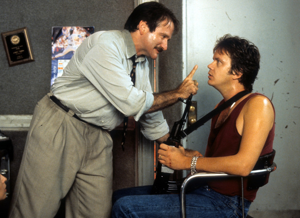 Robin Williams and Tim Robbins in Cadillac Man (1990)