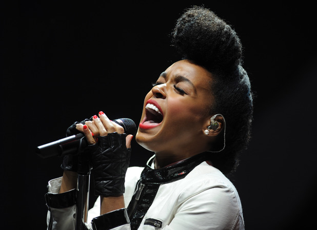 Janelle Monae performs on stage at V festival 2014