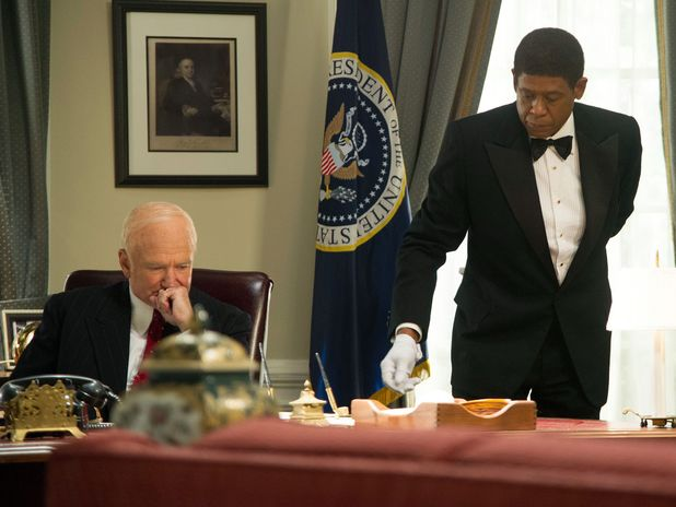 Robin Williams and Forest Whitaker in The Butler (2013)