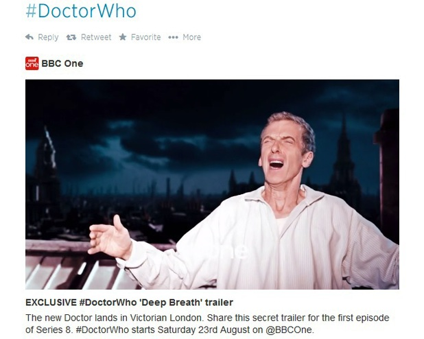 'Secret' trailer for Doctor Who 'Deep Breath'