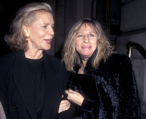 Barbra Streisand and Lauren Bacall