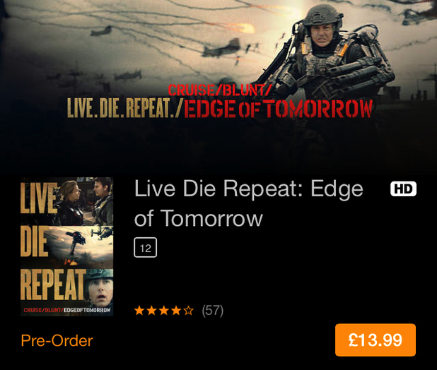 Edge of Tomorrow iTunes retitling