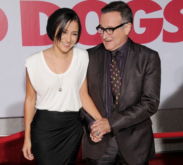 Robin Williams and daughter Zelda Williams pictured in 2009