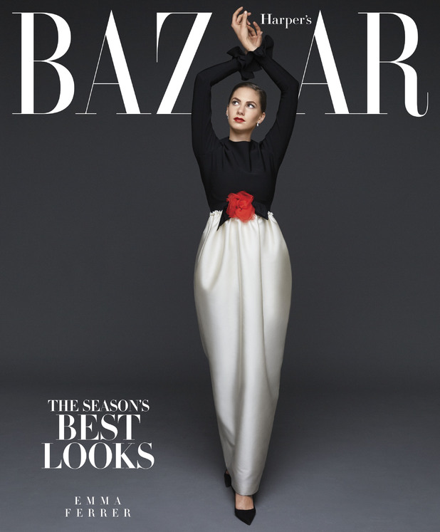 Emma Ferrer in the September issue of Harper's Bazaar