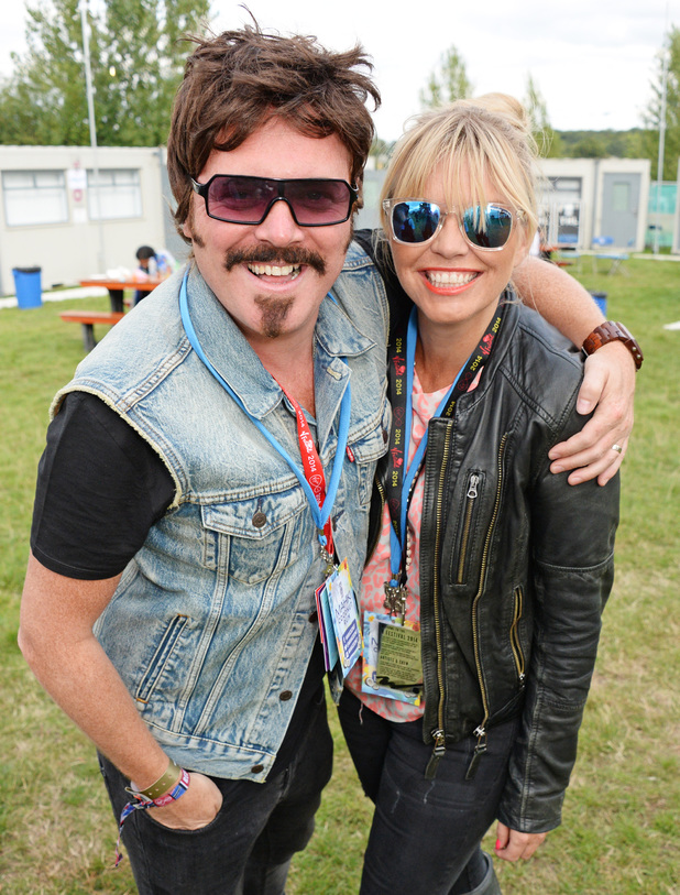 Leigh Francis and Kate Thornton at V festival 2014