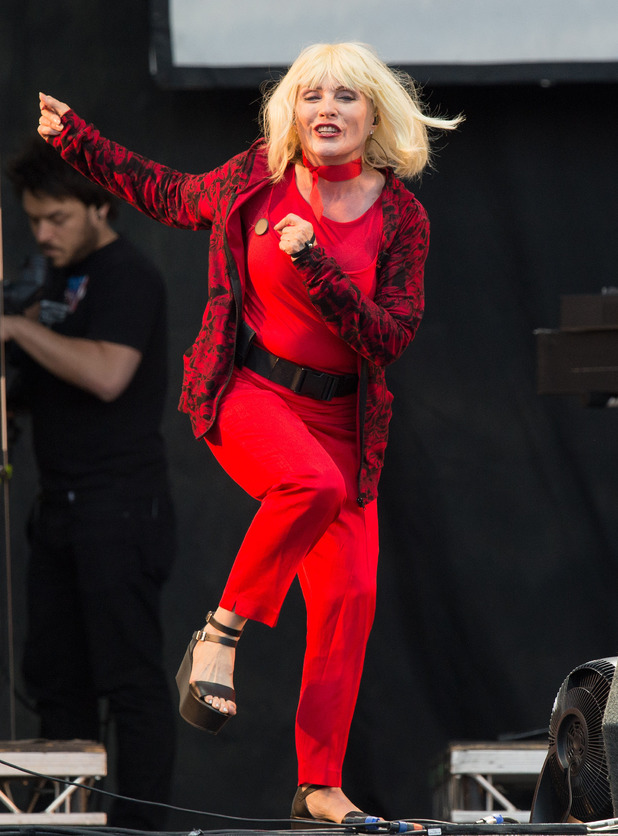Debbie Harry performs on stage at V festival 2014