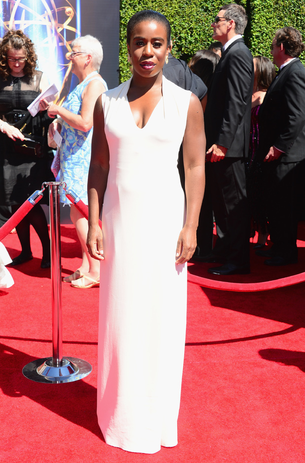 Uzo Aduba attends the 2014 Creative Arts Emmy Awards at Nokia Theatre L.A. Live