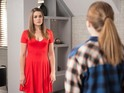 Nico is furious with Sienna's lies on Hollyoaks next week.