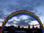 Samsung creates rainbow over London using Galaxy Tab S devices
