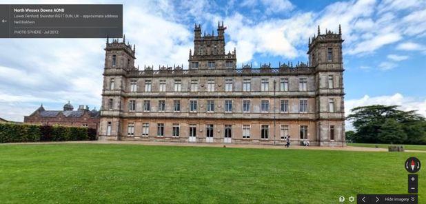 Photo Sphere of Highclere Castle, North Wessex Downs, the filming location of PBS' Downton Abbey