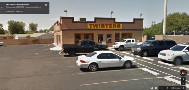 Street View of the filming location of Los Pollos Hermanos in AMC's Breaking Bad