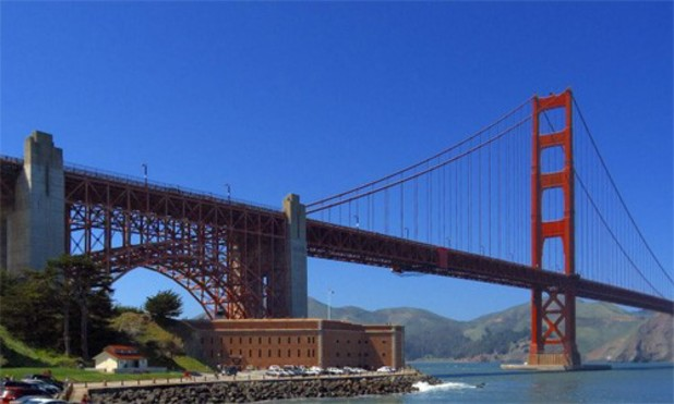 San Francisco's Golden Gate Bridge on Bing Maps