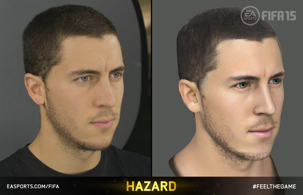 Eden Hazard's FIFA 15 head scan