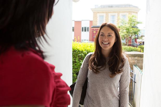 Kat opens the door to Stacey