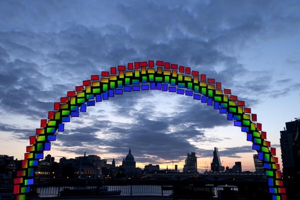 Samsung's Midnight Rainbow exhibition in London
