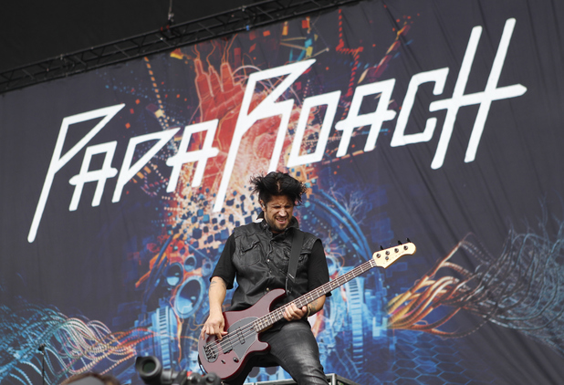 Tobin Esperance of Papa Roach performs on Day 3 of the Reading Festival