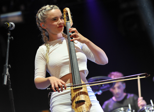 Grace Chatto of Clean Bandit performs on stage at the Reading Festival at Richfield Avenue on August 24
