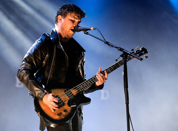Mike Keer of Royal Blood performs on stage at Leeds Festival at Bramham Park