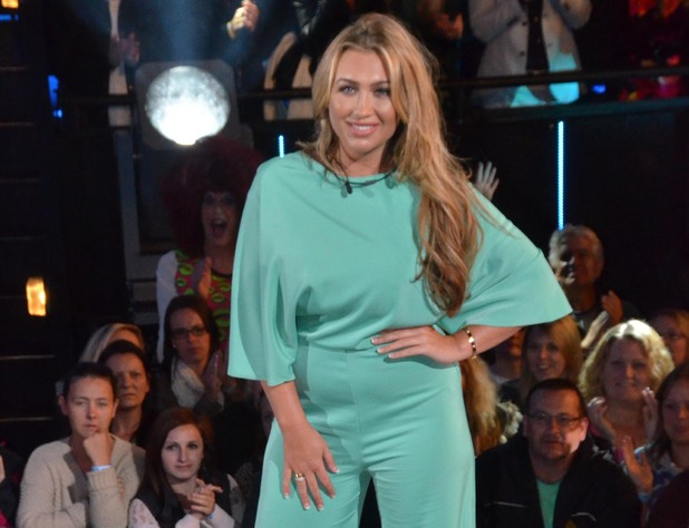 Lauren Goodger enters the Celebrity Big Brother house