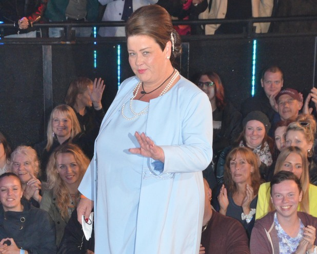 White Dee - as Duchess Deirdre - enters the Celebrity Big Brother house