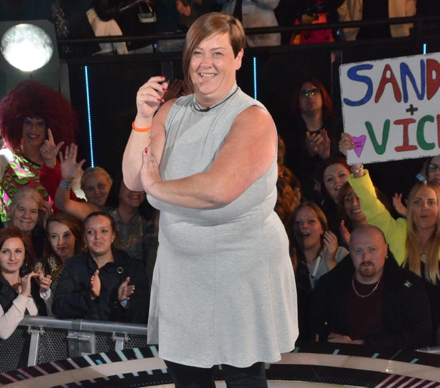 White Dee enters the Celebrity Big Brother house